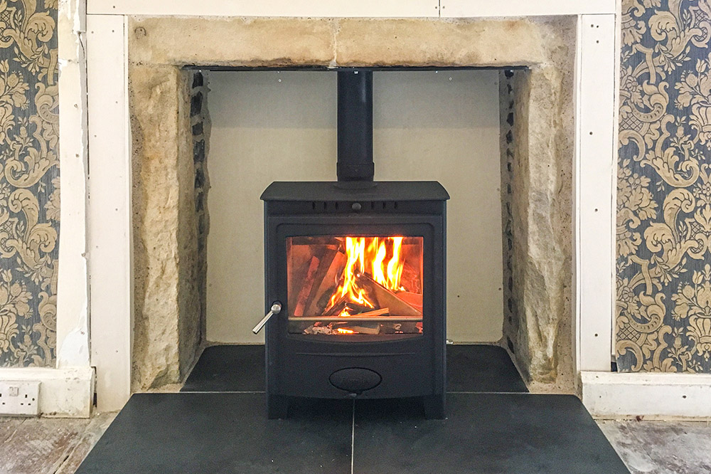 Multifuel stove fitted in a farmouse in Lossiemouth